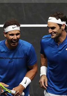 Federer và Nadal giành chiến thắng trong lần đầu đánh đôi cùng nhau