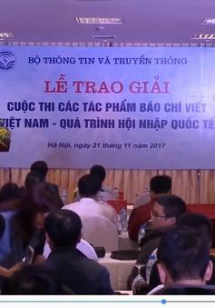 """Trao giải cuộc thi """"Việt Nam - quá trình hội nhập quốc tế"""""""