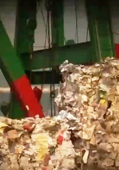 """Giấy nguyên liệu tăng giá """"chóng mặt"""" tại Trung Quốc"""