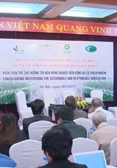 Gỡ nút thắt thể chế xây dựng nông nghiệp bền vững