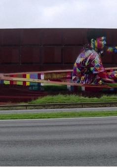Sắp hoàn thiện tác phẩm tranh graffiti lớn nhất thế giới