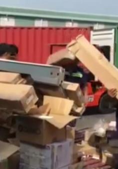 Phát hiện lượng lớn hàng điện tử nhập lậu tại cảng Cát Lái