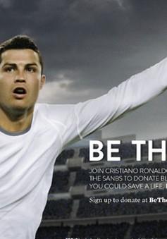 Cristiano Ronaldo làm đại sứ toàn cầu chiến dịch vận động hiến máu