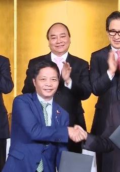 DN Việt Nam - Nhật Bản ký  các văn bản hợp tác trị giá 22 tỷ USD