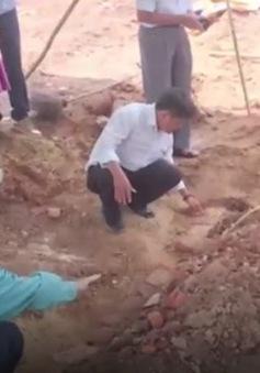 Phát hiện huyệt mộ vợ vua Nguyễn tại dự án bãi đỗ xe