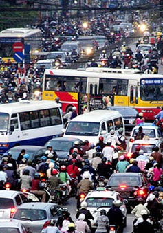 Xe máy đang chiếm 86% lượng phương tiện giao thông đang tham gia tại Hà Nội