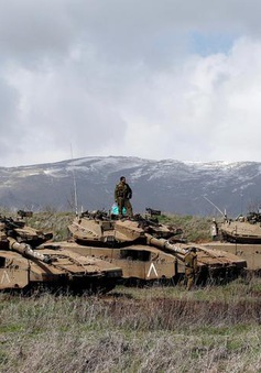 Israel không kích các mục tiêu trên lãnh thổ Syria