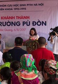 Khánh thành điểm trường mới cho thôn nghèo ở Hà Giang