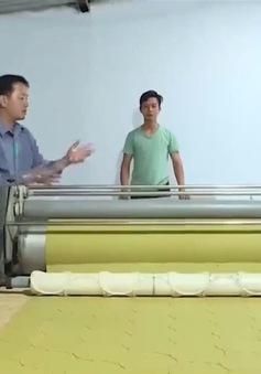 """Sáng kiến máy """"chà vỏ khoai lang"""" độc đáo"""