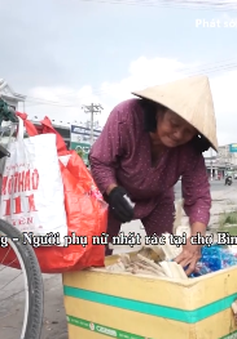 Cảm thương số phận cụ bà hơn 70 tuổi nhặt rác kiếm sống qua ngày