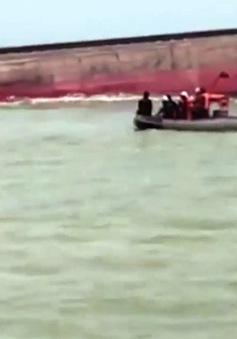 Tiếp tục tìm kiếm 4 thuyền viên mất tích ở Nghệ An
