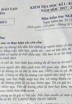 Khánh Hòa: Dừng thi học kỳ I đối với khối lớp 12 vì nghi bị lộ đề