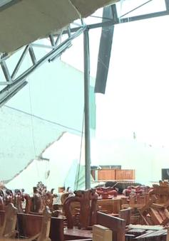 Lốc xoáy tại Thái Bình, 4 người bị thương, nhiều nhà bị tốc mái