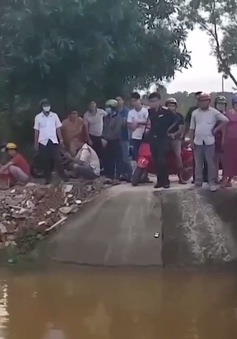 Quảng Trị: Đã tìm thấy thi thể nam sinh bị rơi xuống cống