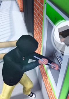 Anh trang bị máy ATM phun gel theo dõi tội phạm