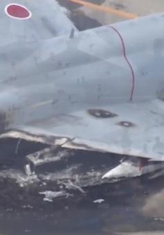 Máy bay chiến đấu của Nhật Bản bốc cháy