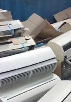 Thu giữ hàng trăm máy lạnh cũ tại Cảng Cát Lái