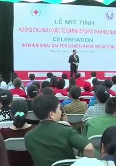 Nghệ An: Mít-tinh hưởng ứng Ngày quốc tế giảm nhẹ rủi ro thiên tai, thảm họa