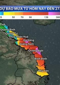Mưa lớn tiếp tục kéo dài ở miền Trung