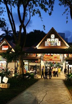 Trung tâm ẩm thực đường phố ở Singapore