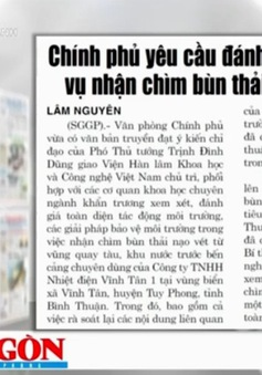 Nhìn lại vụ nhận chìm 1 triệu m3 vật chất xuống biển Bình Thuận