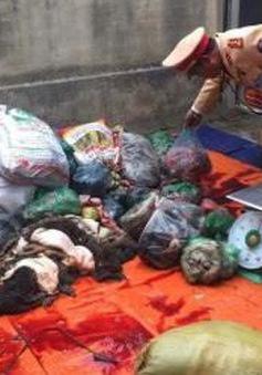Thanh Hóa: Thu giữ gần 650 kg thịt, nội tạng trâu bò bốc mùi