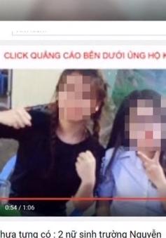 2 nữ sinh suýt tự tử vì tin đồn trên mạng xã hội