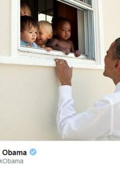 Cựu Tổng thống Mỹ Barack Obama lập kỷ lục trên Twitter
