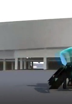 Ô tô bay thắp sáng ngọn đuốc Olympic Tokyo 2020