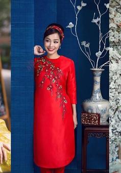 Nữ diễn viên Việt rạng rỡ đón Xuân sớm trong tà áo dài