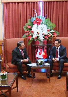Đồng chí Phạm Minh Chính tiếp Chủ tịch Hạ viện Nhật Bản