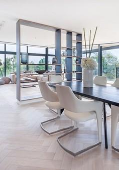 10 mẫu phòng ăn hiện đại với sàn gỗ đẹp