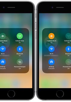 iOS 11 cho phép kết nối Wi-Fi và Bluetooth ngay cả khi ở chế độ máy bay