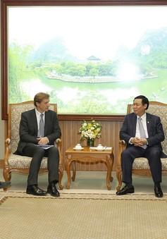 Phó Thủ tướng Vương Đình Huệ tiếp Giám đốc khu vực châu Á- Thái Bình Dương của Diễn đàn kinh tế thế giới