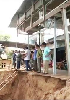 Đồng Tháp sẽ cưỡng chế di dời các hộ dân sống trong vùng sạt lở