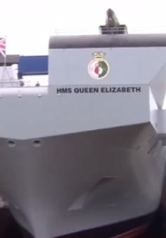 Siêu tàu sân bay Anh bị rò rỉ nước khi thử nghiệm