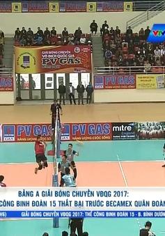 Giải bóng chuyền VĐQG 2017 bảng Nam Định: ĐKVĐ Thể Công thất bại trước Becamex Quân Đoàn 4