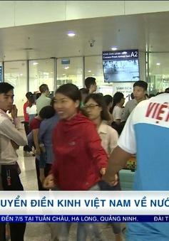 VIDEO: ĐT điền kinh Việt Nam về nước sau thành công tại giải điền kinh Grand Prix châu Á