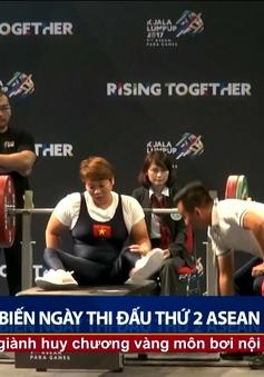 Cử tạ NKT đoàn thể thao Việt Nam giành thêm 2 HCV tại ASEAN Para Games 9
