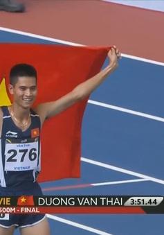 VIDEO SEA Games 29: Dương Văn Thái giành HCV chạy 1500m nam