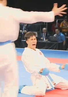 VIDEO SEA Games 29: Thắng áp đảo ĐT Thái Lan, ĐT Karatedo giành HCV kumite đồng đội nam