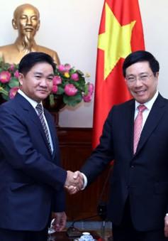 PTTg Phạm Bình Minh tiếp Bí thư BCH Trung ương Đoàn Thanh niên Lào