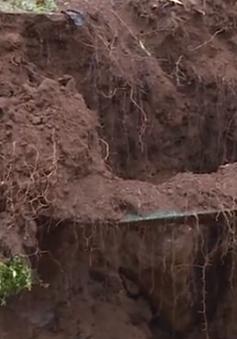 Hàng chục điểm sụt lún nguy hiểm xuất hiện sau mưa lũ tại Lai Châu