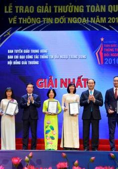 Trao Giải thưởng toàn quốc về thông tin đối ngoại năm 2016