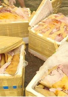 Đắk Lắk phát hiện nhiều xe khách chở thịt không rõ nguồn gốc