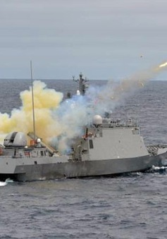 Hải quân Thái Lan tập trận bắn đạn thật
