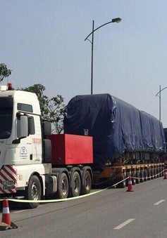 Đoàn tàu đường sắt đô thị Cát Linh - Hà Đông thứ hai về tới Hà Nội