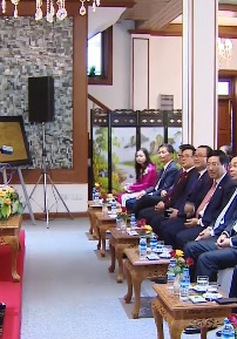 Tổng Bí thư thăm Đại sứ quán Việt Nam tại Myanmar