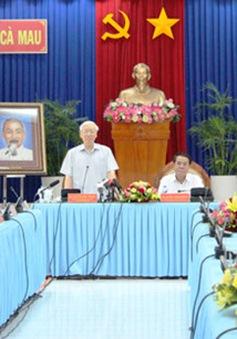 Tổng Bí thư thăm và làm việc tại Cà Mau