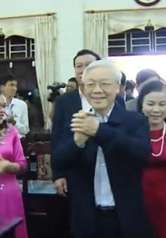 Tổng Bí thư thăm trường Chính trị Trường Chinh, tỉnh Nam Định
